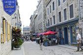 Straßenszene am alten Québec — Stockfoto