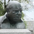 Stock Photo: Winston Churchill bronze sculpture