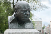 Winston Churchill bronze sculpture — Stock Photo