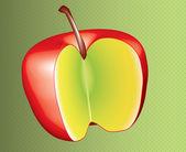 Desenho de maçã vermelha em 3d — Fotografia Stock