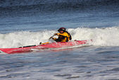 Kayaker in azione — Foto Stock