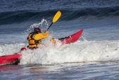 Kayaker in action — Stock Photo