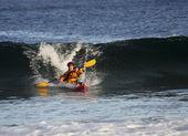 Kayaker em ação — Foto Stock