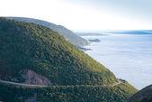 Cape Breton scenic road — Stock Photo