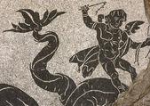 Caracalla mosaic details — Stock Photo