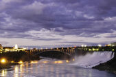 Moonlight over Niagara Falls — Stock Photo