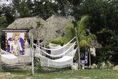 white mayan hammock — Stock Photo