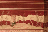 Minoan Palace fresco — Stock Photo
