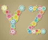 Floral alphabet. — Stock Vector