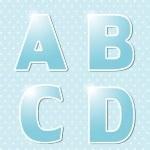 Blue alphabet. — Stock Vector