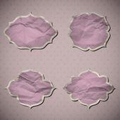 Pink Crumpled Frames — Stock Vector