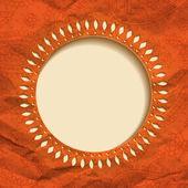 Orange paper frame — Vetor de Stock