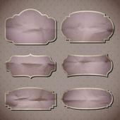 Crumpled paper frames — Stock Vector