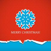 Jul bakgrund med snöflinga — Stockvektor