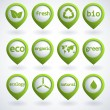 Eco buttons set — Stock Vector