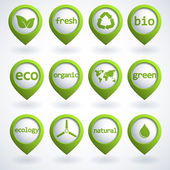 Eco buttons set — Vector de stock