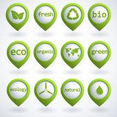 Conjunto de botones de eco — Vector de stock
