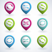 Arrow buttons — Stock Vector