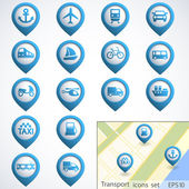 Transport buttons set — Vettoriale Stock