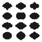Set of farmes silhouette — Stock Vector