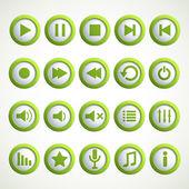 ícone de jogador de meios de comunicação — Vetorial Stock