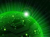 Teknoloji gezegen — Stok Vektör