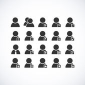 Set di icone utente — Vettoriale Stock