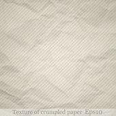 Texture of crumpled paper — Stock vektor