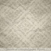 Texture of crumpled paper — Vecteur