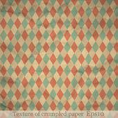 Texture of crumpled paper — Stock Vector
