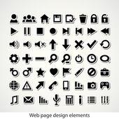 Icono de la web conjunto — Vector de stock