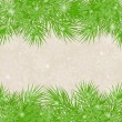 Christmas green background Christmas-tree branches — Image vectorielle