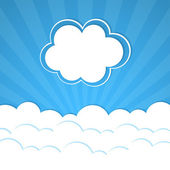 Telaio di nuvola — Vettoriale Stock