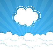 Marco de nube — Vector de stock