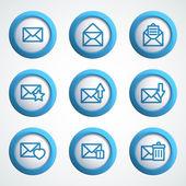 Iconos de mensaje — Vector de stock