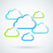 Clouds background. Vector illustration. Eps10. — Cтоковый вектор