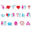 Love icons — Stock Vector #18311411