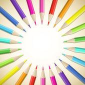 Colored pencils — Stock Vector
