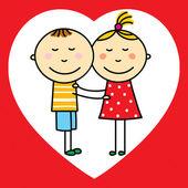 Children in love — Stock Vector