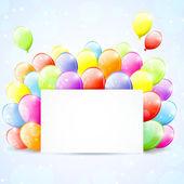 Balloons frame — Stock Vector