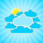 Marcos de nubes — Vector de stock