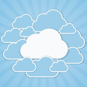 Clouds frames — Stock Vector