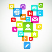 Social media background — Stock Vector