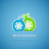 фон с рождественские шары — Cтоковый вектор