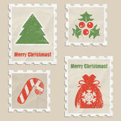 Christmas stamps — Stock vektor