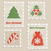 圣诞邮票 — 图库矢量图片