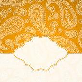 Ramka w stylu indyjskim — Wektor stockowy