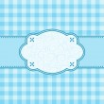 Blue frame. Vector illustration. — Stock Vector #5533314