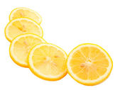 Ripe lemon slices isolated on white — Stock Photo