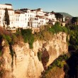 Stok fotoğraf: New bridge in Ronda, one of famous white place in Andalucia,